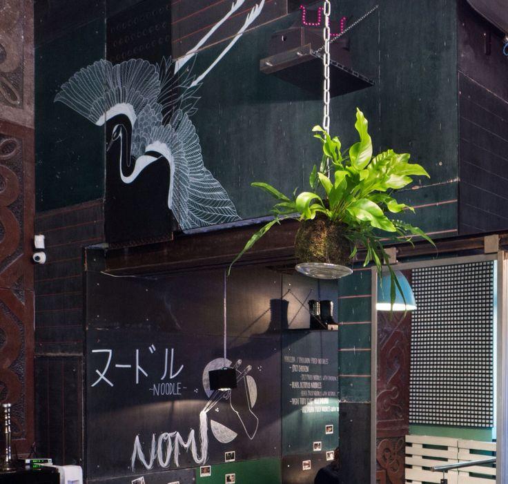 "Kokedama in japan restaurant ""kitchen the adress""Prague"