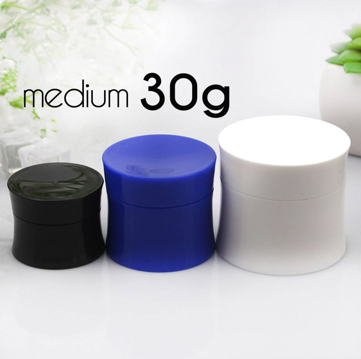 50 pcs (30g) Plastic Jar, Pot, Bottle with Lid & Disc Liner - Skincare Face Cream, SPA Bath, Food Packaging