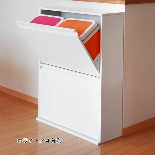 Recycling bins 薄型分別ダストボックス