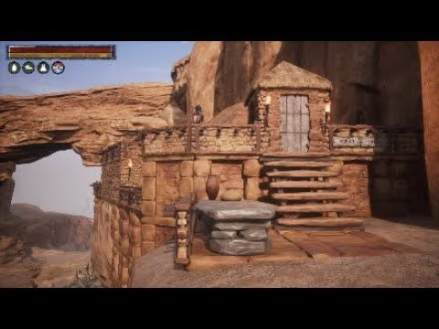 Conan Exiles:- Thrall processing camp, close to the Black