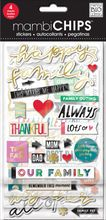 mambiCHIPS™ Designer Chipboard Stickers, Happy Family