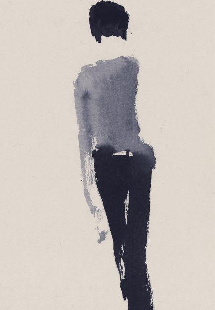 Fashion illustrator Aurore de La Morinerie, Paris for Louis Vuitton. Ink watercolor etching print. Illustratrice de mode. Illustrations dessinées à la main. Encre aquarelle monotype. Agent and Artists.