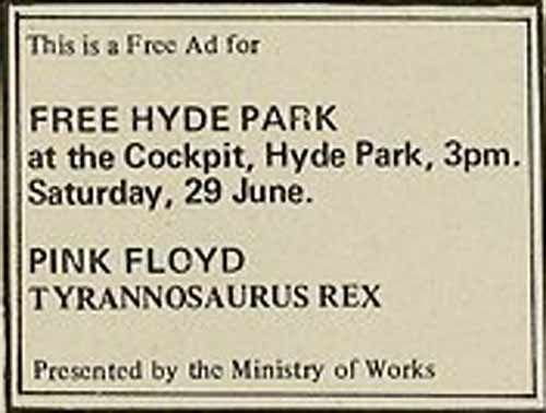 The first Hyde-Park Free Concert 6-29-68