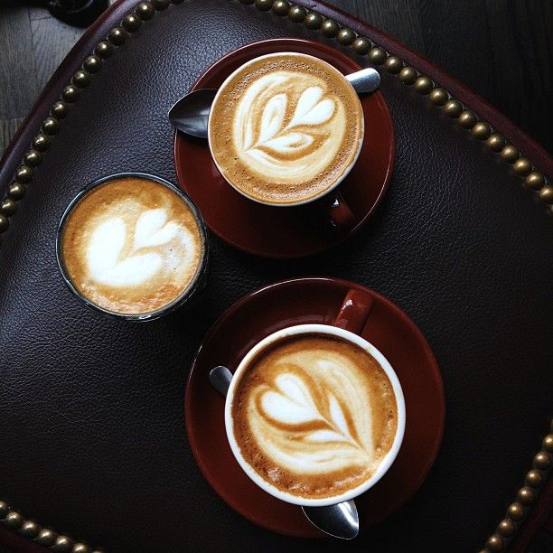 Cortado, Cappuccino and Macchiato at Thinking Cup / photo by Rick Poon