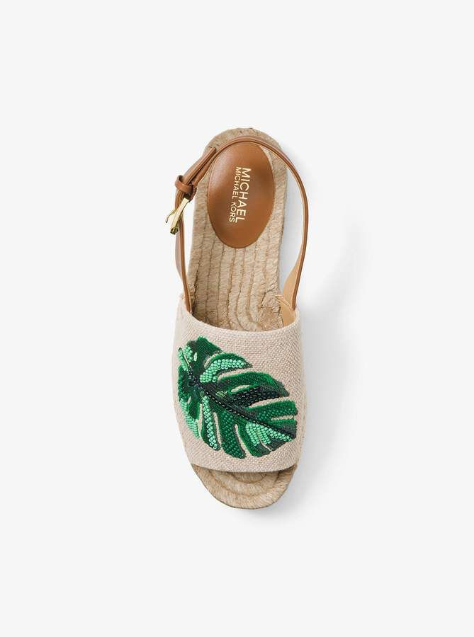 2fb445ec4fa7 Michael Michael Kors Fisher Palm Embroidered Espadrille