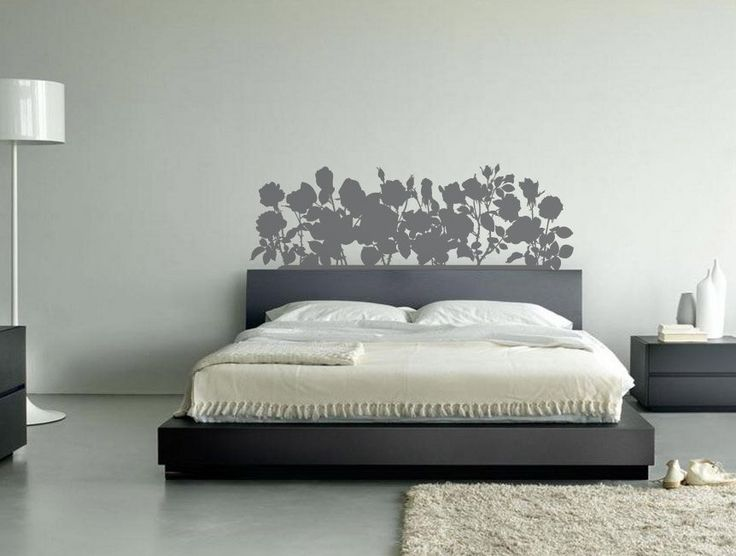 Roses Headboard Decal Queen Size By Createdes On Etsy I Love The Way They Painted Wall Behind