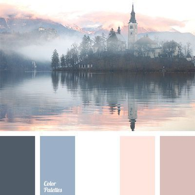 colour of mist over a lake, colour of morning mist, colour of the rising sun, colour of the sunrise, colours of fog, colours of morning, pale dark blue colour, pastel shades of dark blue, peach colour, shades of gray-dark blue