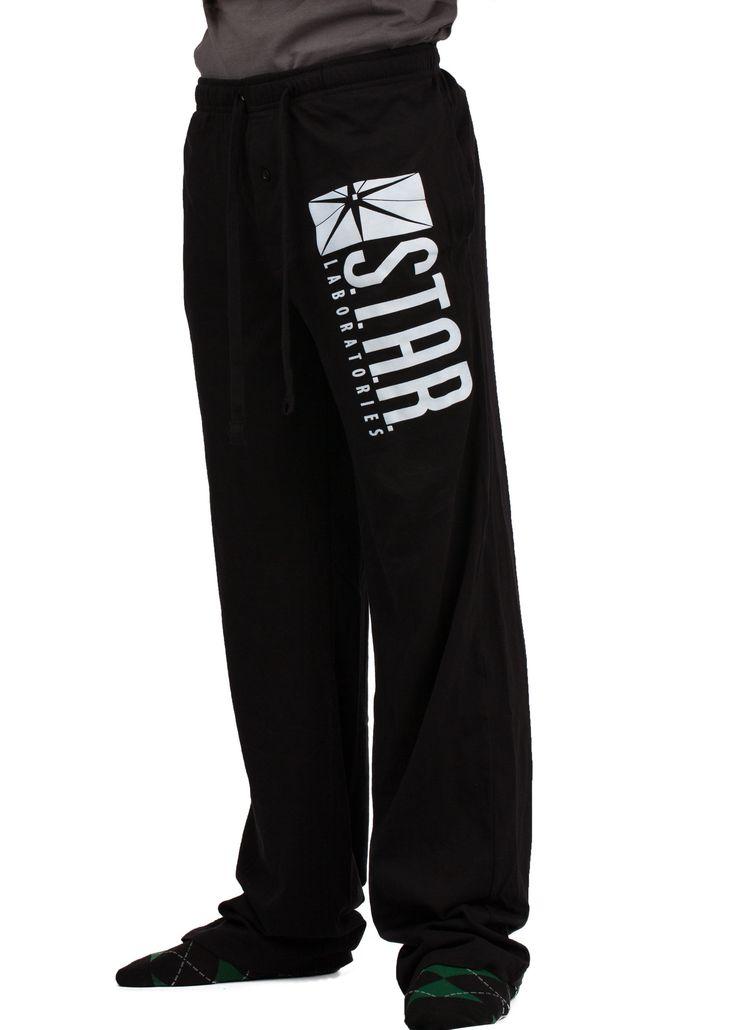 Flash DC Comics Star Labs Logo Pajama Sleep Pants tv show