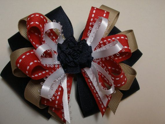 Large Back To School Hair Bow Toddler To Big Girl Boutique