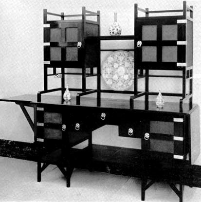ARTS&CRAFTS / MISSION STYLE Edward William Godwin, 1833-1886: Tansu influence.