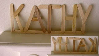 Art Projects for Kids: Popsicle Stick Signage   Start saving popsicle sticks