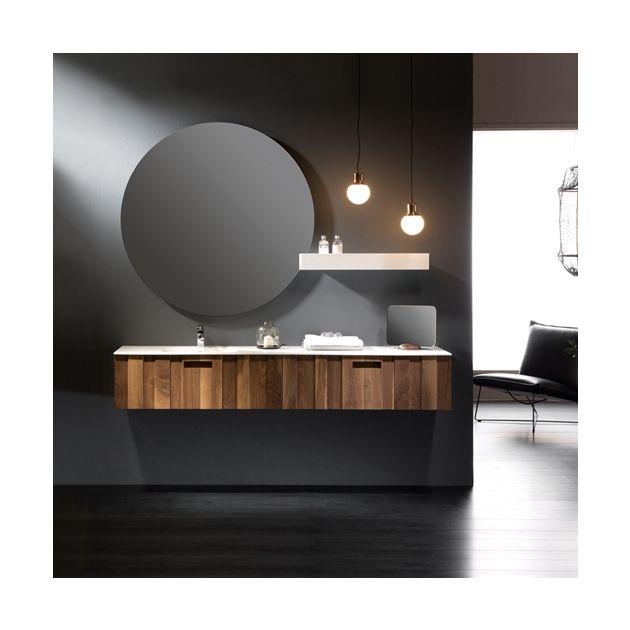 Kante Wall Mounted American Solid Walnut Vanity Unit 1 Drawer In 2020 Vanity Units Small Bathroom Remodel Wall Mounted Vanity