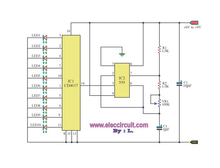 576cde150f5f88e12050730d68c6c979 electronics projects circuit led chaser by ic 4017 ic 555 pcb & components pinterest 4017 wiring diagram at mifinder.co