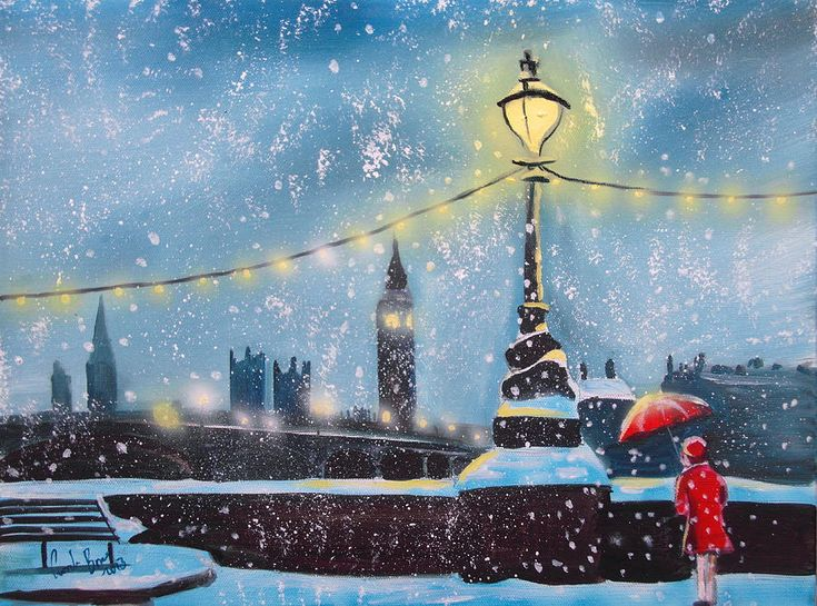 Lights Of London (painting) by Gordon Bruce