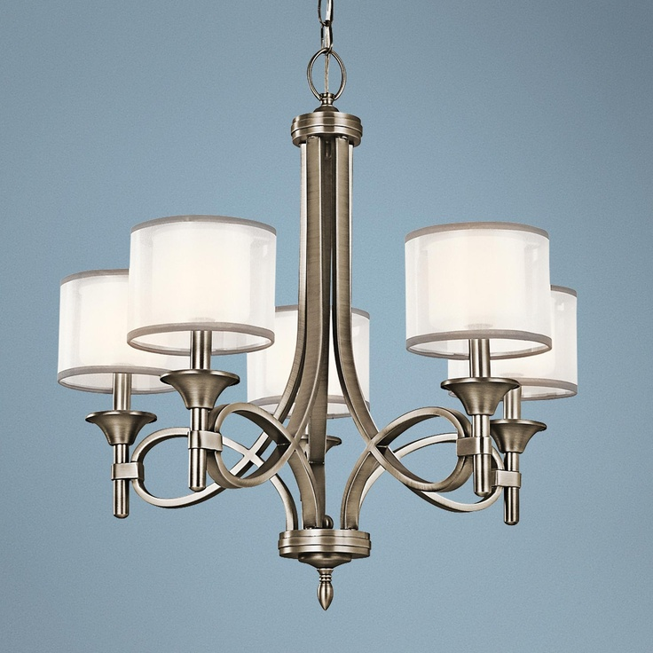 Kichler Lacey Antique Pewter Collection 5 Light Chandelier
