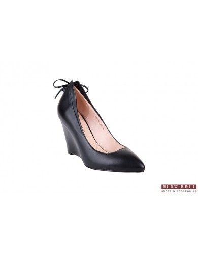 ЖЕНСКАЯ : женские туфли чёрные на танкетке