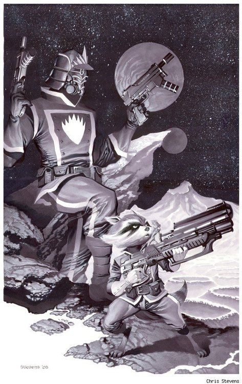 Star Lord And Rocket Raccoon By Timothygreenii On Deviantart: Peter Quill Images On Pinterest