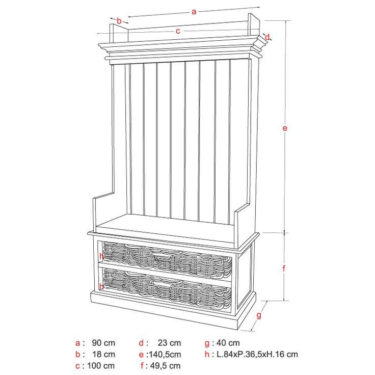 Caractéristiques techniques : Matière : Bois : Acajou massif pour toutes les structures soutenant le meuble Mdf (Panneaux de fibres de ...