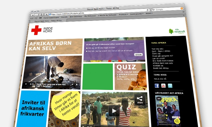 Educational content online for Danish Red Cross