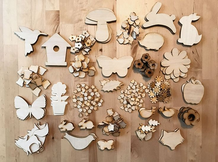 Mega Spring Craft Pack - Nearly 300 Wooden Shapes!