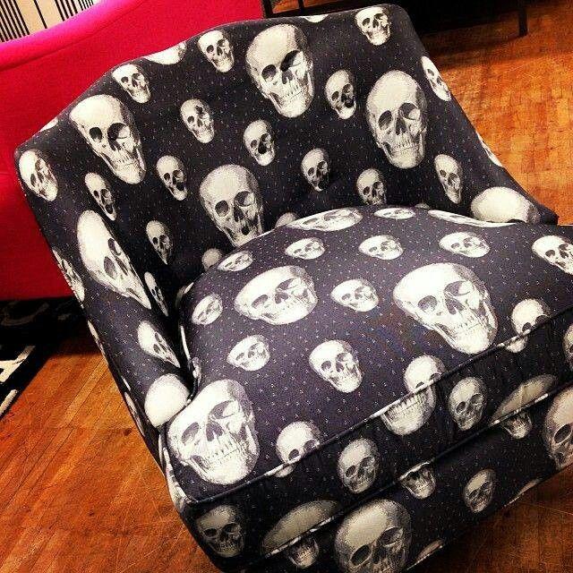 Gothic skull chair