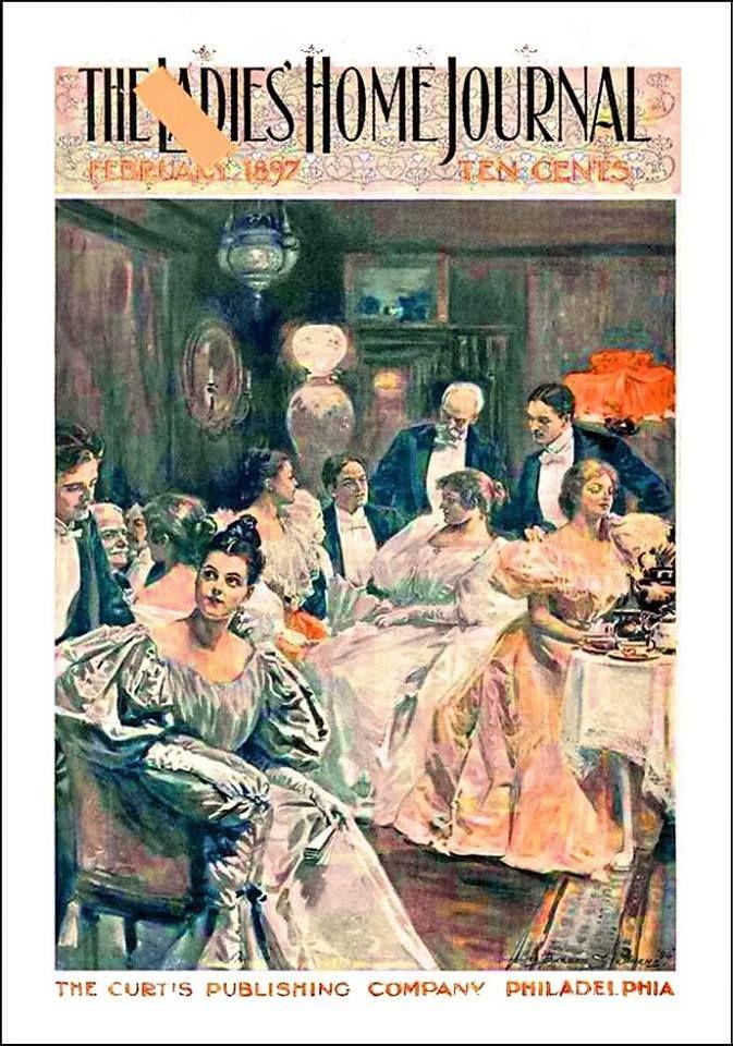 Ladies' Home Journal Society Setting February 1897 Alice Barber Stephens