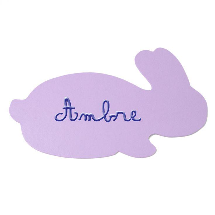 Plaque de porte ''Mon petit lapin'' personnalisable (10 coloris) : Poudre d'étoiles - Plaque de porte personnalisable - Berceau Magique