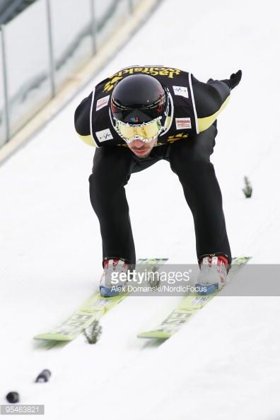 Emmanuel Chedal of France competes during the FIS Ski Jumping World Cup event at the 58th Four Hills Ski Jumping Tournament on December 28 2009 in...