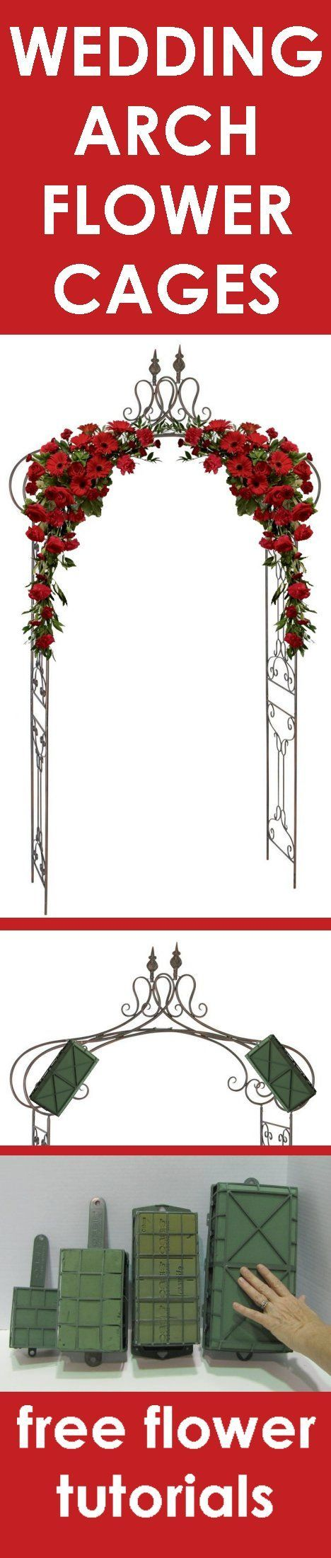Wedding Flower Arch - Easy Step by Step Flower Tutorials Learn how to make bridal bouquets, wedding corsages, church decorations, pew ends, and reception centerpieces. Buy wholesale flowers and discount florist supplies.