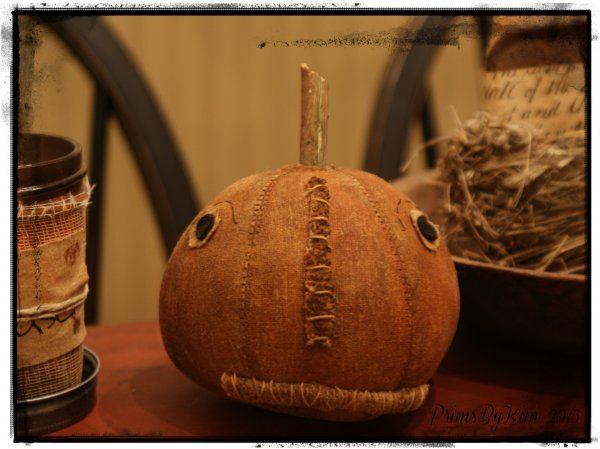 "prims by kim | Primitive Pumpkin shelf sitter pbk by "" prims by kim """