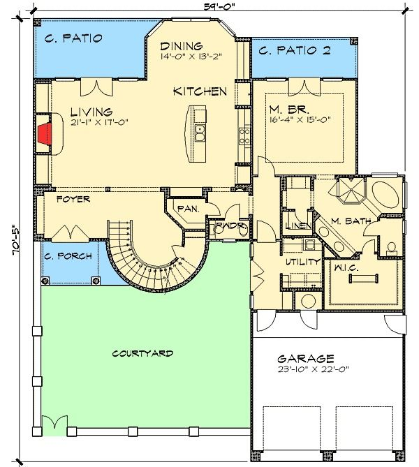 Mediterranean House Plan 2 Story Tuscan Style Home Floor Plan: 17 Best Ideas About Mediterranean Homes On Pinterest