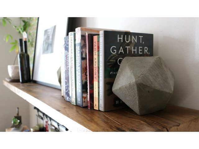 Diy Geometric Concrete Bookends Tutorial Diy Bookends Bookends Concrete Diy