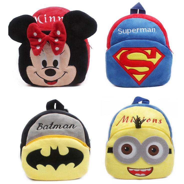 Plush Cartoon Kids School Bags For Children School Backpacks For Kindergarten Baby Mochila Infant Student School Boy Backpack