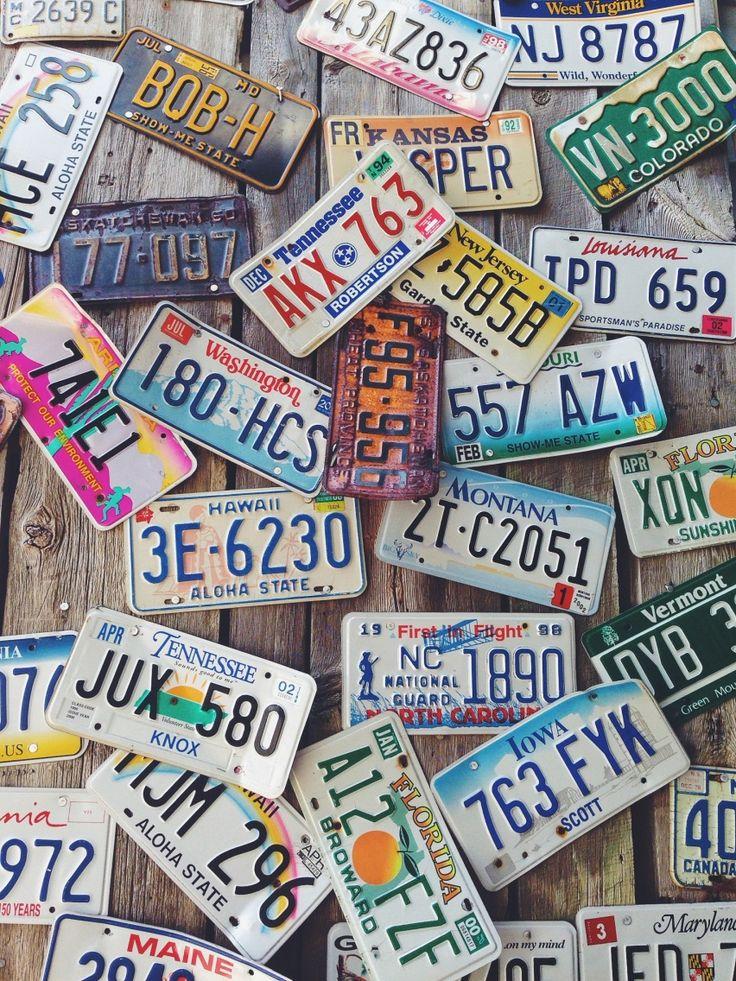 Vintage license plates   VSCO Cam   hannakaskal
