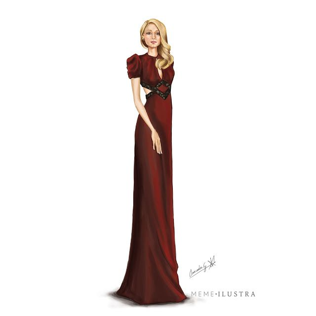 """Dibujando señoritas de piernas largas: """"The age of Adaline"""" Blake Lively in Gucci Dress"""