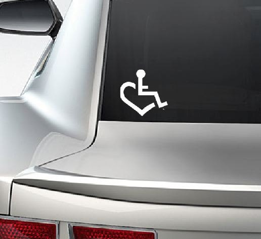 Handicap heart laptop window vinyl car decal sticker 4 95 via etsy
