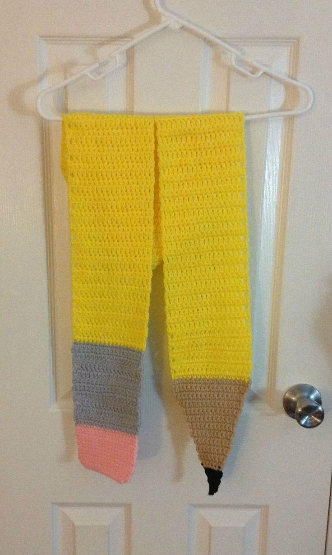 Cute Pencil Crochet Scarf