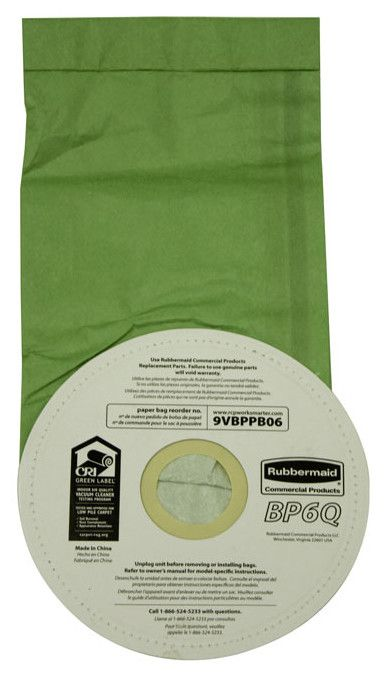 Disposable Vacuum Bag for Rubbermaid Commercial Backpack Vacuum