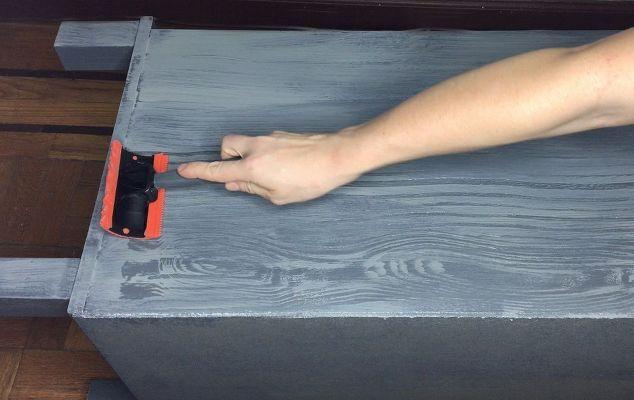 tecnica di pittura grano finto legno