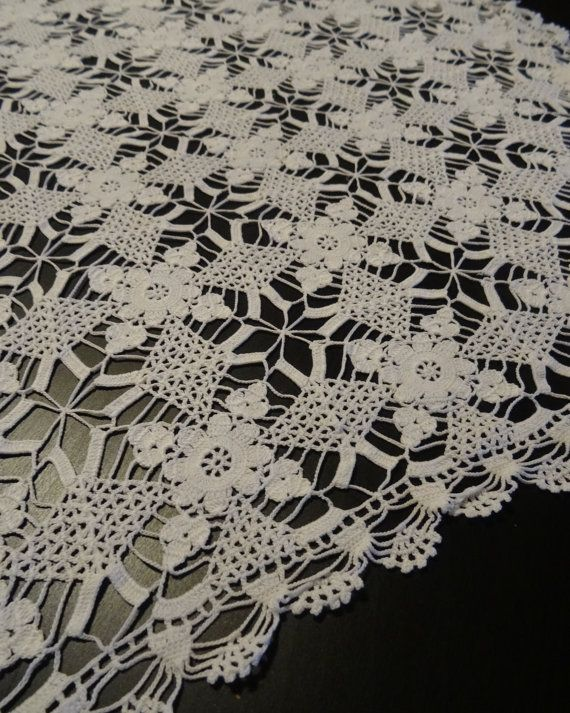 Vintage German handmade crocheted white от EuropeanThreadwork