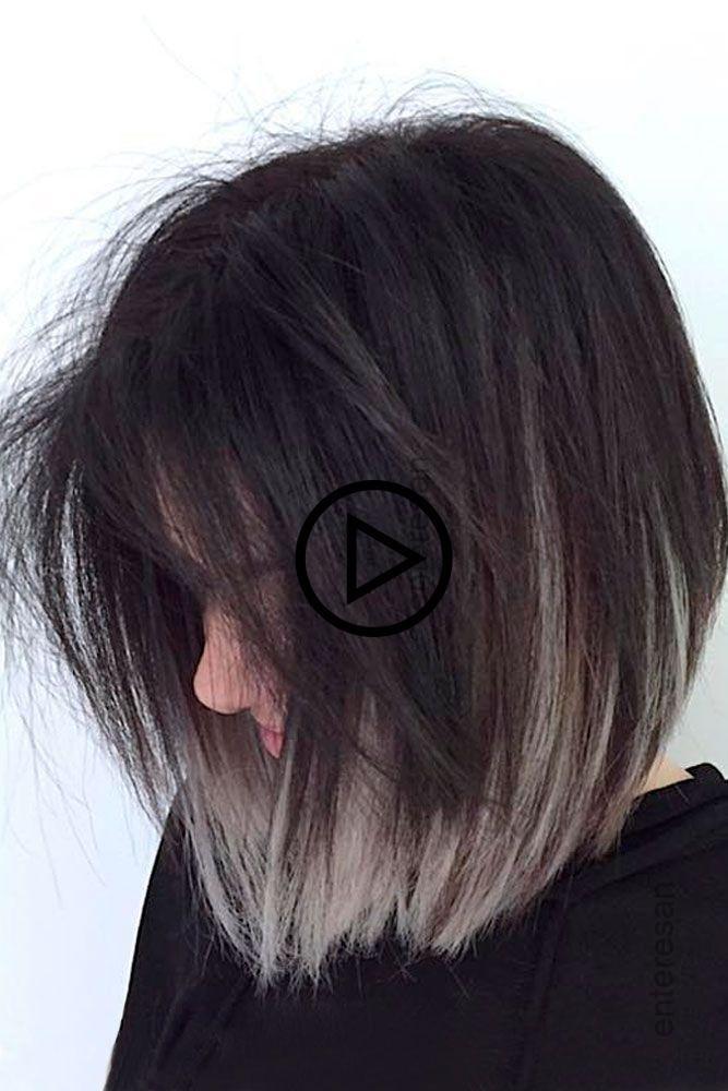 Dunkle #Root #Hair #mit #Grey #Color #Bild1 # ❤️  – Erstaunliche Haarfarbe Blog