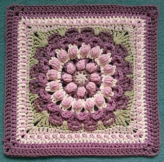 Vintage Marigold Mandala Square ~ free pattern ᛡ