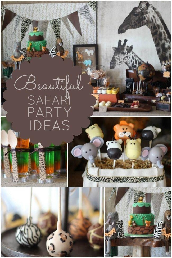 Safari Birthday Party Ideas www.spaceshipsandlaserbeams.com
