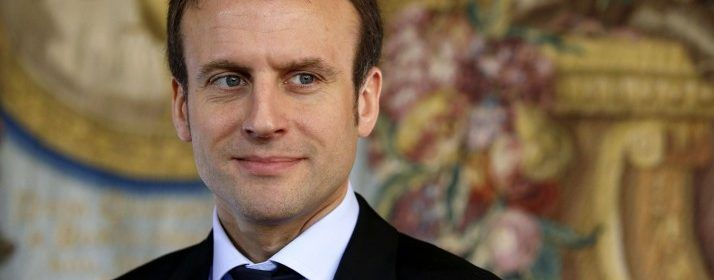 French Economy and Industry minister Emmanuel Macron is pictured during a press conference following a meeting amid a crisis in France's agricultural sector in Paris on February 8, 2016.   French farmers have carried out a string of demonstrations for nearly two weeks against the falling prices of their products, demanding structural measures to strengthen price rates. / AFP / PATRICK KOVARIK        (Photo credit should read PATRICK KOVARIK/AFP/Getty Images)