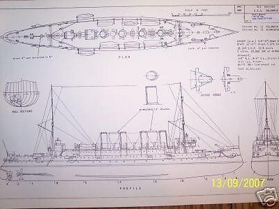 uss columbia ship boat model boat plan picclick.com