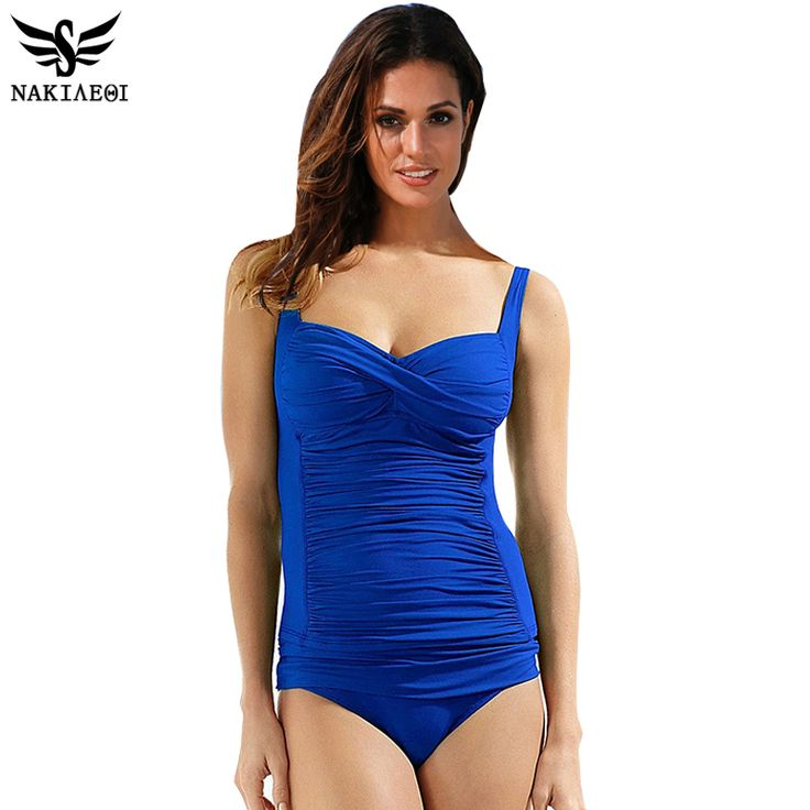 NAKIAEOI One Piece Swimsuit Plus Size Swimwear Women 2017 Summer Beachwear Push Up Bathing Suits Retro Swim Wear Monokini 4XL #clothing,#shoes,#jewelry,#women,#men,#hats,#watches,#belts,#fashion,#style