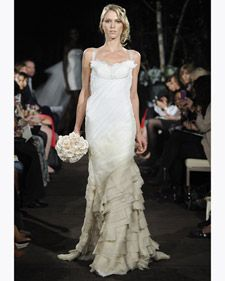 New wedding dresses by Anne Bowen from the designer's Fall 2012 bridal runway collection.