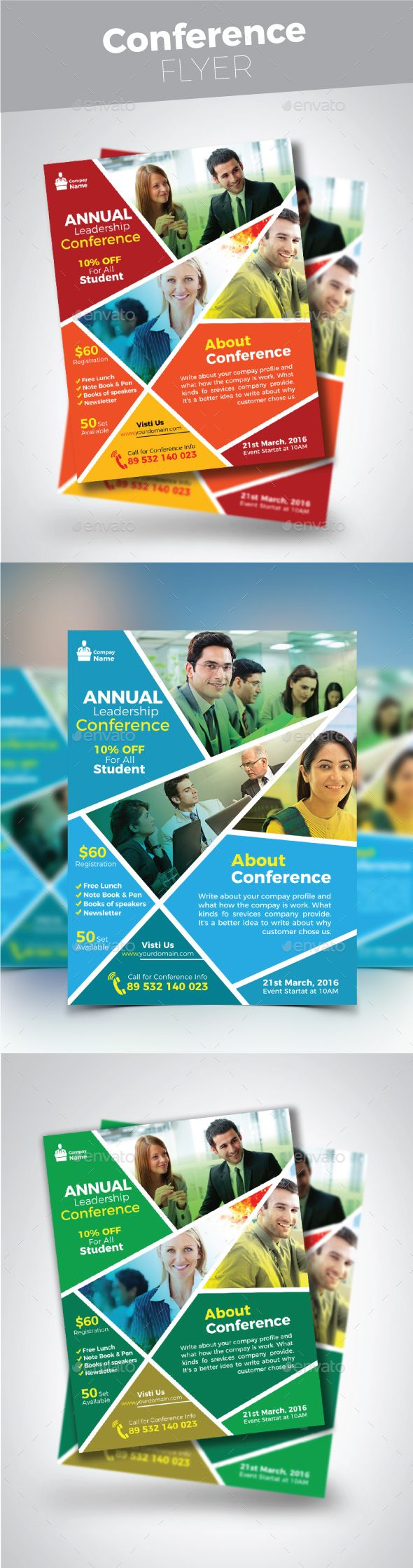#Conference #Flyer - Corporate Flyers Download here:  https://graphicriver.net/item/conference-flyer/19747543?ref=alena994