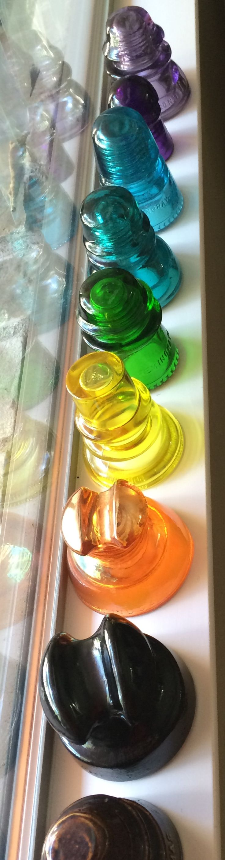 Girly Girl Collection: Glass Insulators from 1800-1900's telegraph/telephone/electrical poles