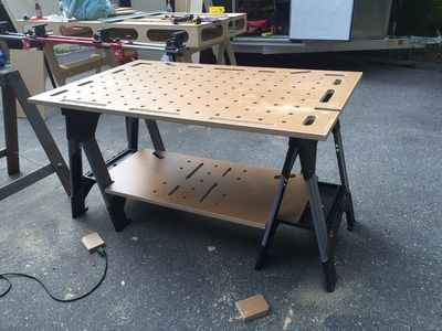This portable work table is lighter & thinner than Festools MFT but integrates seamlessly with Festools line of power tools and accessories.